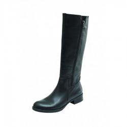 Level Anatomic Γυναικεία Δερμάτινη μπότα με φερμουάρ 457 Μαύρη