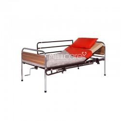 Κρεβάτι Μεταλλικό Μονόσπαστο Καφέ Με Κάγκελα και Ρόδες