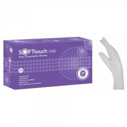 Εξεταστικά Γάντια Βινυλίου Soft Touch Λευκό Χωρίς Πούδρα 100τμχ