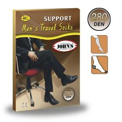 Ανδρικές Κάλτσες Κάτω Γόνατος Βαμβακερές 280DEN ( 17-20mmHg ) 2145127 JOHN'S Γκρι