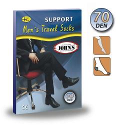Ανδρικές Κάλτσες Κάτω Γόνατος 70DEN ( 10-14mmHg ) JOHN'S 2145128 Γκρι