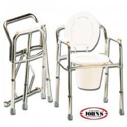 Commode Καρέκλα + WC Πτυσσόμενη με Ρυθμιζόμενο Ύψος 2175650 JOHN'S