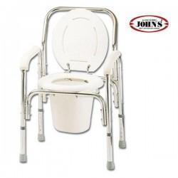 Commode Deluxe Καρέκλα + WC Αλουμινίου με Ρυθμιζόμενο Ύψος 217565A JOHN'S