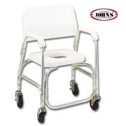 Καρέκλα Αλουμινίου με Ρόδες Για Ντους Και Τουαλέτα 217566