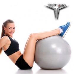 Μπάλα Yoga-Pilates 26136 Φ65cm Γκρι TITAN Orthodynamic