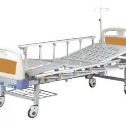 Νοσοκομειακή Κλίνη Χειροκίνητη Πολύσπαστη Με Δύο Μανιβέλες