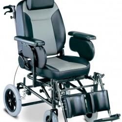 Αναπηρικό Αμαξίδιο Ειδικού Τύπου Reclining Με Μεσαίους Τροχούς Γκρι