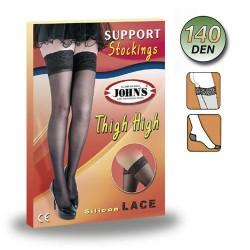 Κάλτσες Φλεβίτιδος Ριζομηρίου 140den Με Δαντέλα Σιλικόνη John's Μπεζ 2145150