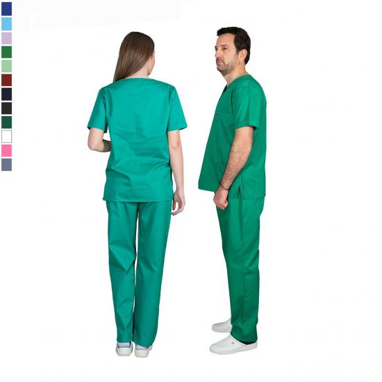 Ιατρική Στολή Μπλούζα - Παντελόνι (Σετ) Unisex  Ανοιχτό Πράσινο