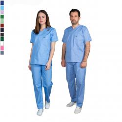 Ιατρική Στολή Μπλούζα - Παντελόνι (Σετ) Unisex  Σιελ
