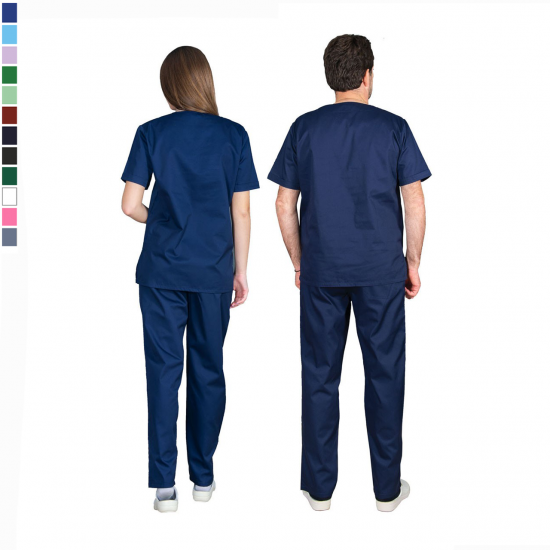 Ιατρική Στολή Μπλούζα - Παντελόνι (Σετ) Unisex Σκούρο Μπλέ