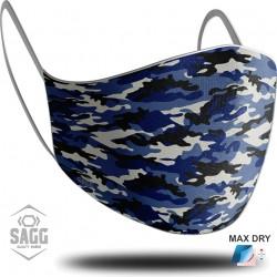 Unisex Υφασμάτινη Μάσκα Προστασίας Army Blue 1 τμχ