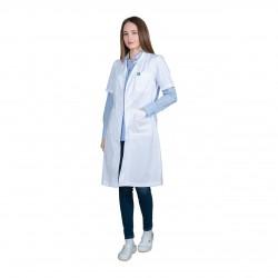 Ιατρική Ποδιά Γυναικεία Λευκή Με Κοντό Μανίκι