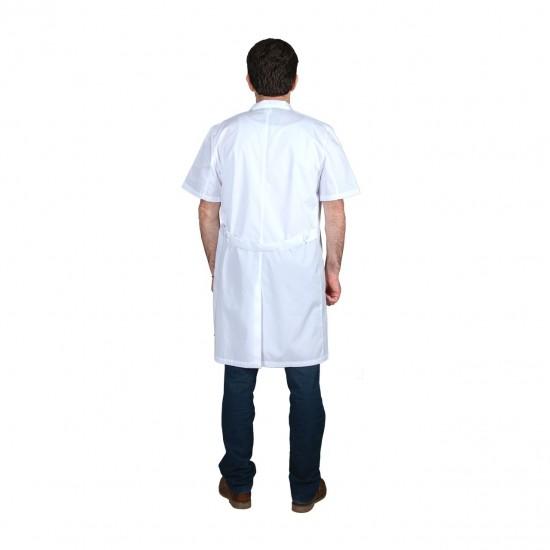 Ιατρική Ποδιά Ανδρική Λευκή Με Κοντό Μανίκι