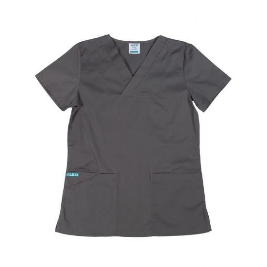 Ιατρική Στολή Γυναικεία Μπλούζα - Παντελόνι (Σετ) Γκρι