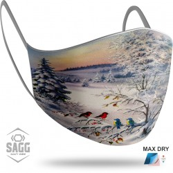 Unisex Μάσκα Προστασίας Christmas Winter Birds